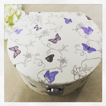 25% OFF Flutterbyes Butterfly Cream Jewellery Box